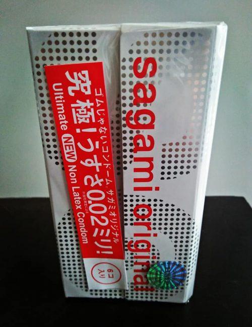 Bao cao su siêu mỏng sagami 0.02 hộp lớn  bao