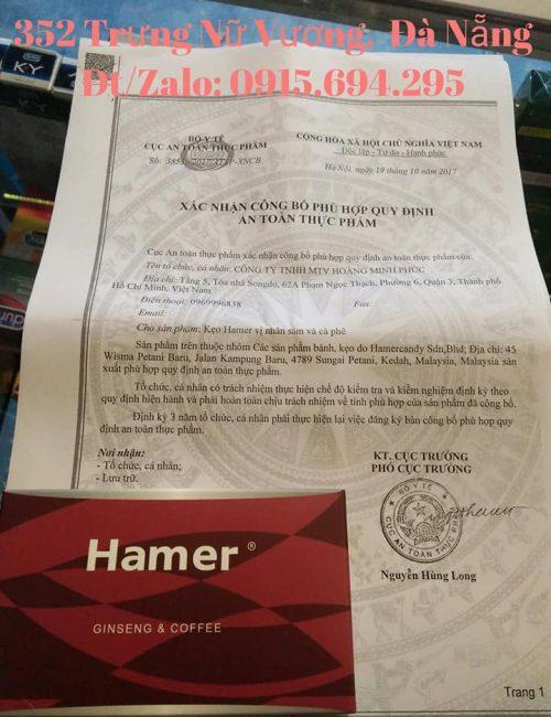 Kẹo sâm tăng cường sinh lý Nam - Kẹo sâm Hamer chính hãng bán Đà Nẵng